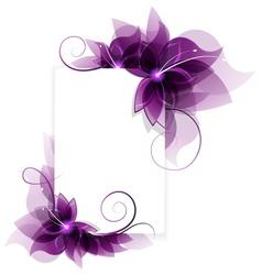 Purple flowers card vector image