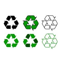 recycle symdol set vector image vector image