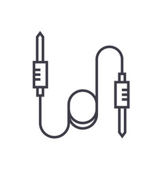 sound cables line icon sign vector image