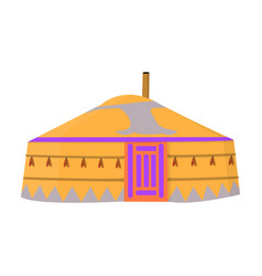 Tent in the mongolian patternsmongolian tent vector