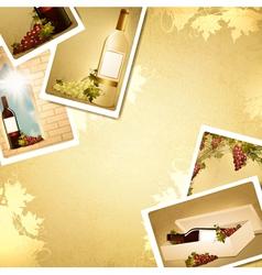 vintage winemaking background vector image vector image