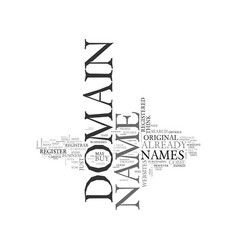 Where to buy your domain name text word cloud vector