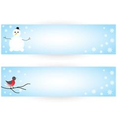 Winter stickers vector image