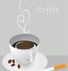 Coffe and cigarette vector