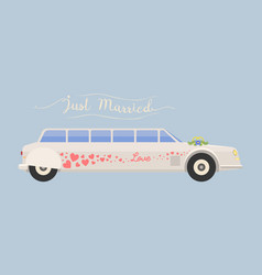 city wedding limousine transport vector image