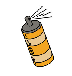 spray can container icon vector image