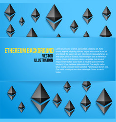Business background with ethereum symbols vector