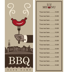 menu for barbecue vector image