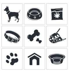 Doggy icon collection vector