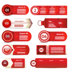 Modern infographics options banner can be used vector