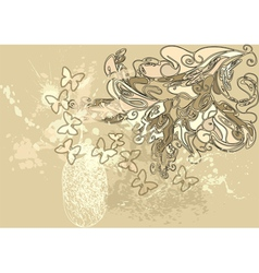 Silk and butterfly vector