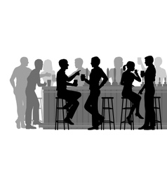Busy bar vector image