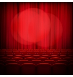 Closed theater red curtains eps 10 vector