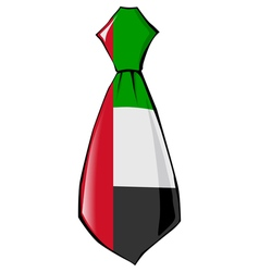 Necktie in national colours of united arab emirate vector