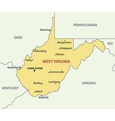 West virginia - map vector