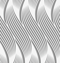 Perforated paper with wavy striped shapes vector
