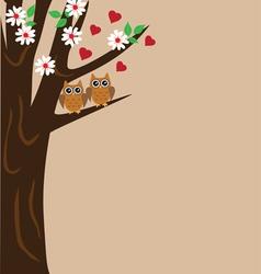 bird cage tree vector image