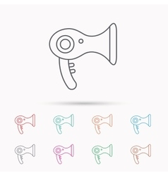 Hairdryer icon electronic blowdryer sign vector