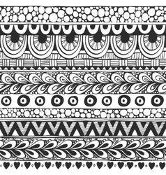 Seamless ornament from doodles in ethnic style vector image