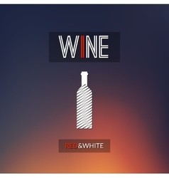 Red and white wine cellar bottle concept design vector