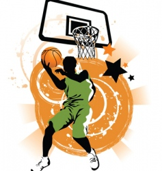 basketball collage vector image vector image
