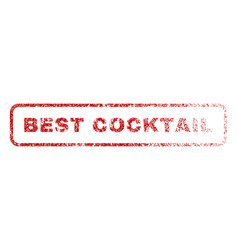 Best cocktail rubber stamp vector