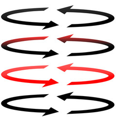 black and red arrows with in flatness double vector image