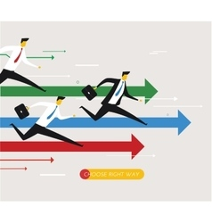 businessmen running on distillation vector image