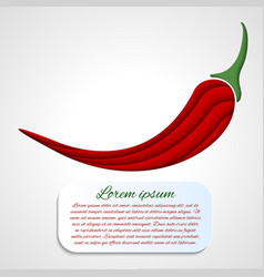 Card with chilli pepper vector