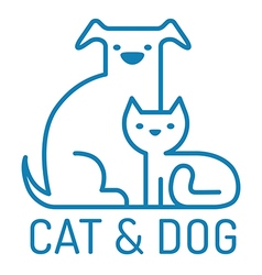 Cat dog flat vector