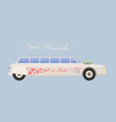 city wedding limousine transport vector image vector image