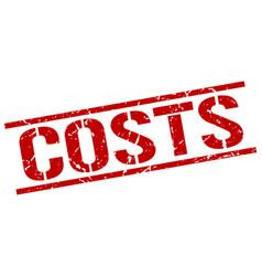 Costs stamp vector