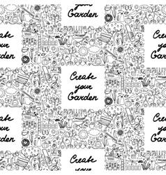 Create your Garden Frame Seamless pattern vector image vector image