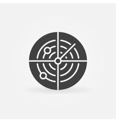 Dark radar icon or logo vector image vector image