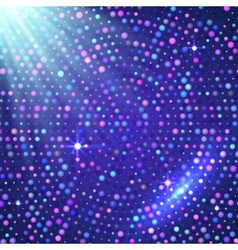 Disco light violet shining background vector image vector image