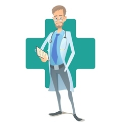 Doctor concept cartoon style vector image