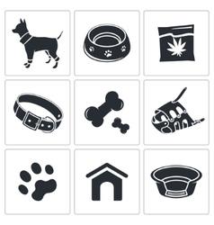 Doggy icon collection vector