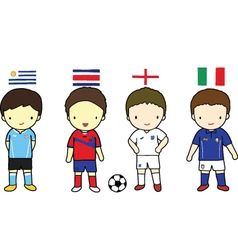 FIFA 2014 Football Players Group D vector image