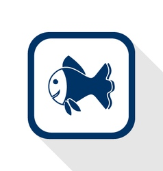 fish flat icon vector image