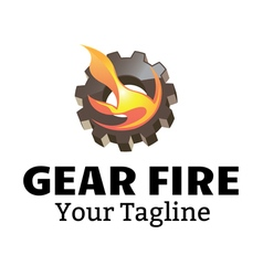 Gear fire design vector