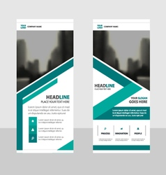 Green business roll up banner flat design template vector