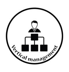 Head businessman with scheme icon vector image