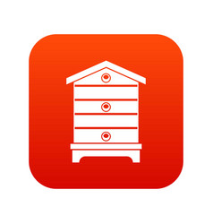 Hive icon digital red vector