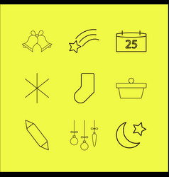 Holidays linear icon set vector