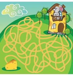 Maze with mouse vector image vector image
