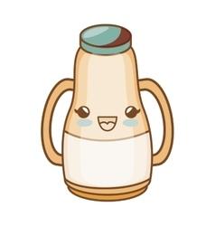 Milk bottle kawaii style isolated icon vector