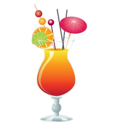 Orange cocktail vector image vector image