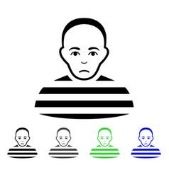 Prisoner flat icon vector