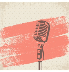 Retro Microphone Brush vector image