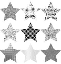 Set Grunge Star vector image vector image
